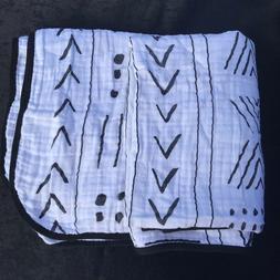 Modern Burlap Swaddle Blanket Baby Blanket Dots Authentic 10