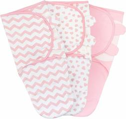 Comfy Cubs Swaddle Blanket Baby Girl Boy Easy Adjustable 3 P