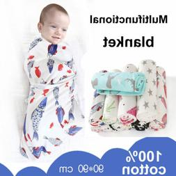 Baby Muslin Blanket Newborn Swaddle Wrap Infant Towel Sleepi