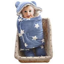 Baby Swaddle Blanket Sleep Sack - GreForest Thick Fleece Swa