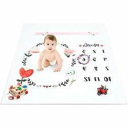 Topixdeals Swaddling Blankets Baby Milestone Blanket, Newbor