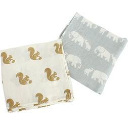 LifeTree Swaddling & Receiving Blanket -  Large 47 x 47 Inch