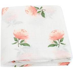 "LifeTree Muslin Swaddle Blankets for Girls -""Floral Print"" S"