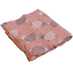 "Swaddling & Receiving Blanket - ""Sheep Print"" Bamboo Cotton"