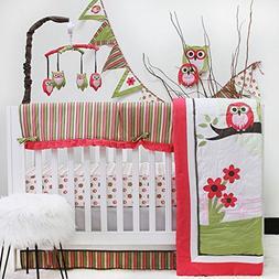 Sweet Dream Owl 10-piece Crib Bedding Set, Multiple Applique