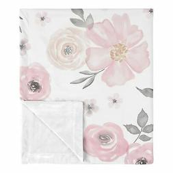 Sweet Jojo Shabby Chic Watercolor Floral Baby Receiving Secu