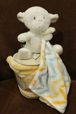 Little Miracles Sweet Snuggles Plush Lamb & Baby Blanket 2 P