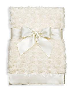 Bearington Baby Small Creamy White Swirly Security Blankie,