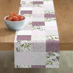 Table Runner Baby Blanket Cheater Quilt Wholecloth Floral La