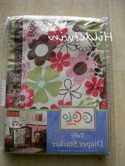 TAFFY COCALO BABY DIAPER STACKER FLOWERS PINK GREEN BROWN NI