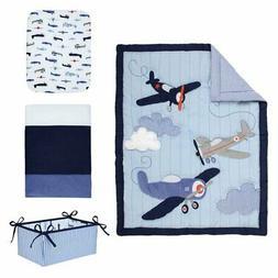 Take Flight 4 Piece Airplane Crib Bedding Set by Carters