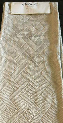 """Peacock Alley Tan Beige Cotton Throw Brand New 50"""" x 70"""" Jac"""