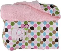 Snugly Baby Tan Fleece Baby Blanket w/ Monkey