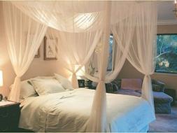 Tangkula 4 Corner Post Bed Canopy Mosquito Net Full Queen Ki