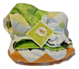 Target Circo Baby Blanket Chevron Zig Zag Stripe Green Minky