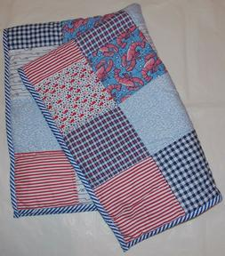 Vineyard Vines for Target Patchwork Quilt Baby Blanket with