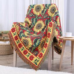 Tassels Blanket Warm Soft Throw Three Layer Tapestry Sofa Co