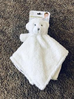 Blankets and Beyond Teddy Bear White Cream Security Blanket