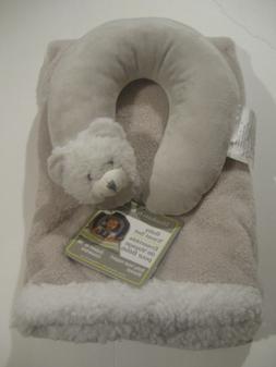 Blankets and Beyond teddy Baby travel pillow Blanket Gift Se