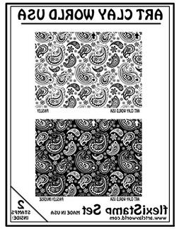 Flexistamps Texture Sheet Set Paisley Set - 2 Pc.