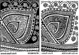 FlexiStamps Texture Sheet Set Pretty Paisley Designs - 2 pc.