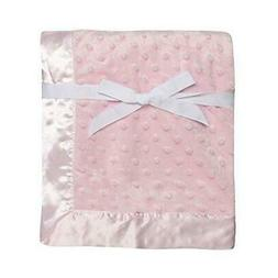 Baby Starters Textured Dot Blanket with Satin Trim, Pink 30""