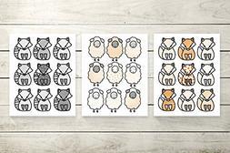 Three Piece Handlettered Nursery Graphic Design Print 8.5 x