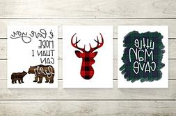 Three Piece Handlettered Nursery Graphic Design Prints 8.5 x