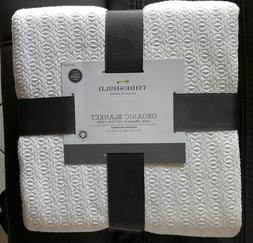 Threshold Organic Blanket 100% Organic Cotton Fiber,Lightwei