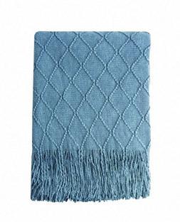 """Bourina Throw, 50""""x60"""", Blue Super Soft So comfy Lightweight"""