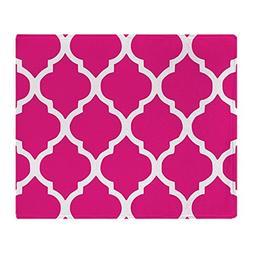 CafePress - Quatrefoil Hot Pink Throw Blanket - Soft Fleece