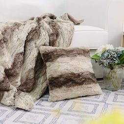 NordECO HOME Throw Blanket and Pillow Cover Set Super Soft S