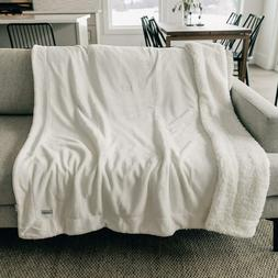 Graced Soft Luxuries Throw Blanket Sherpa Fleece Minky Micro