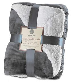 Throw Blanket Super Soft Reversible Genteele Sherpa Ultra Lu