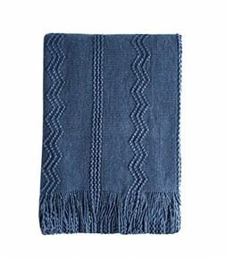 Bourina Throw Blanket Textured Solid Soft Sofa Couch Decorat