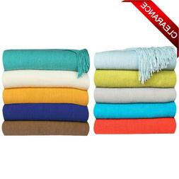 Throw Blanket Warm Cozy Extra Soft Couch Sofa Bed Decorative