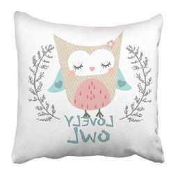 Jidmerrnm Throw Pillow Covers Print Baby Lovely Owl Graphic