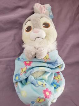 """Disney Parks Thumper Baby Plush with Blanket Pouch 10"""" Babie"""