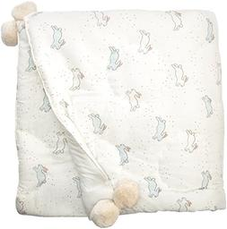 Pehr Tiny Bunny Quilted Pom Pom Blanket
