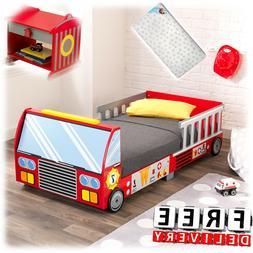 Toddler Bed Car Truck Boy Girl Kid Child Furniture Wooden Cr