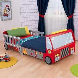 Toddler Bed Fire Truck Boys Kids Children Bedroom Game Car F