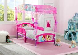 Toddler Bed Frame For Girls Princess Plastic Canopy Kids Sid