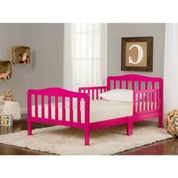Toddler Bed Pink Safety Rails Girls Bedroom FurnitureDream