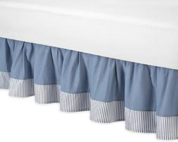 Sweet Jojo Designs Toddler Bed Skirt - Come Sail Away Nautic