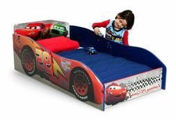 Toddler Bed Wooden Furniture With Mattress Disney Cars Kids