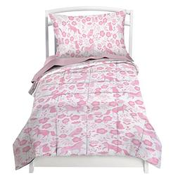 Where The Polka Dots Roam Toddler Bedding Set for Girls in P
