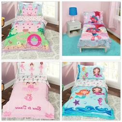 Toddler Bedding Set Girls Pink Bed Sheets Kids Comforter Pil