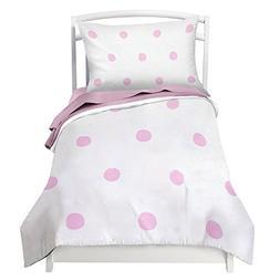 Toddler Bedding Set for Girls Pink Polka Dot - Double Brushe
