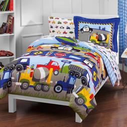 Toddler Bedding Set Reversible Comforter With Sheets Boy Gir