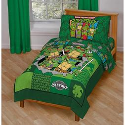 Toddler Bedding Set Teenage Mutant Ninja Turtles 4 Piece Kid